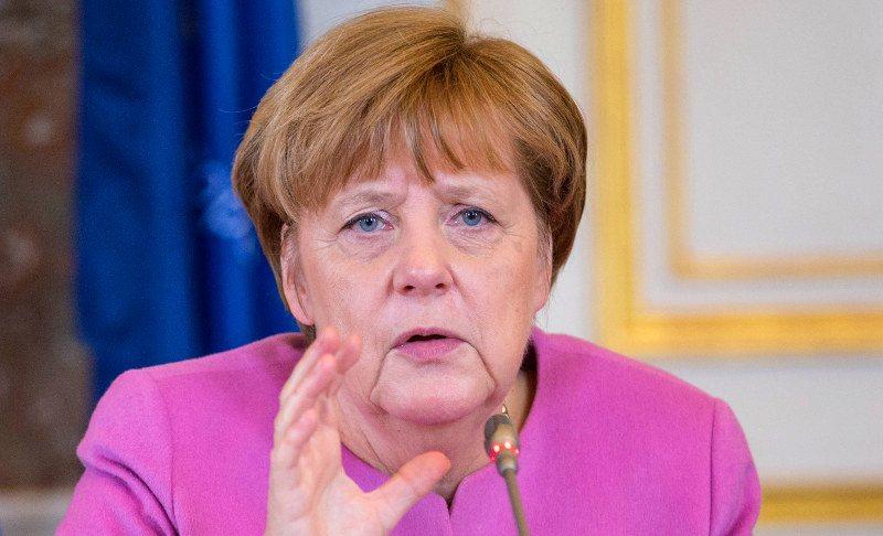Angela Merkel est candidate de l'union (CDU/CSU) à l'élection fédérale allemande