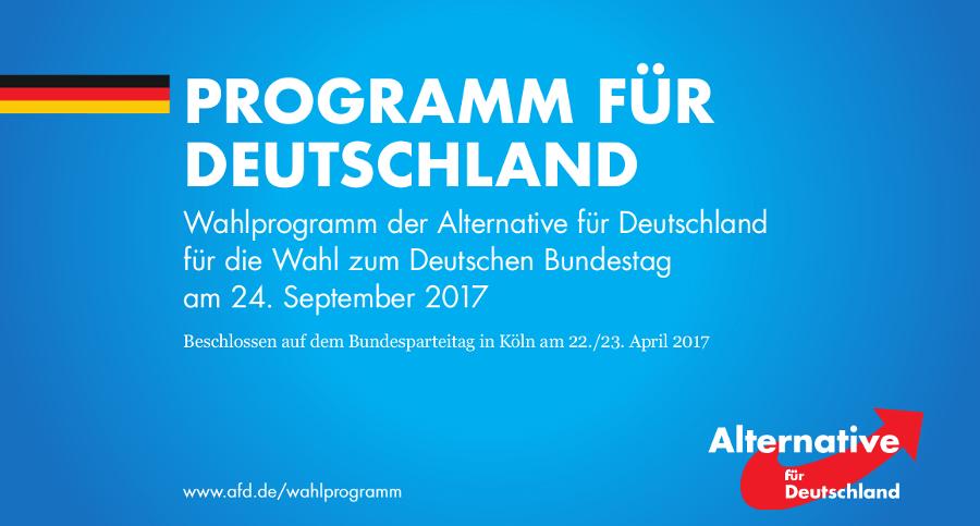 Wahlprogramm Alternative für Deutschland (AfD)
