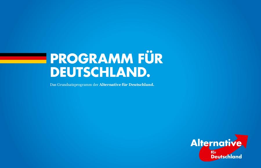 Wahlprogramm der AfD (Grundsatzprogramm)