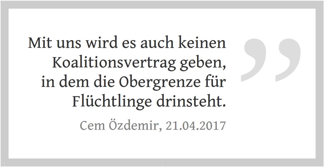 Die Grünen bei der Bundestagswahl