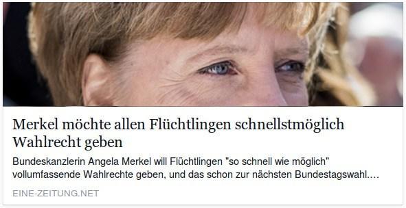 Erhlaten Flüchtlinge oder Ausländer in Deutschand bald Wahlrecht?