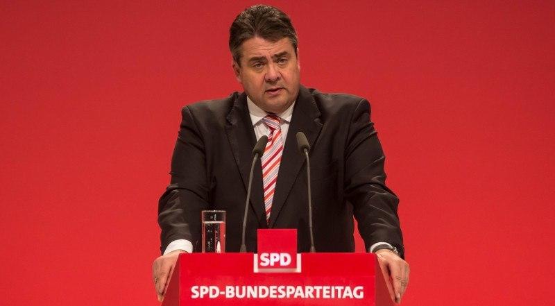 Sigmar Gabriel beim letzten SPD-Bundesparteitag - Derzeit tief in den Umfragen