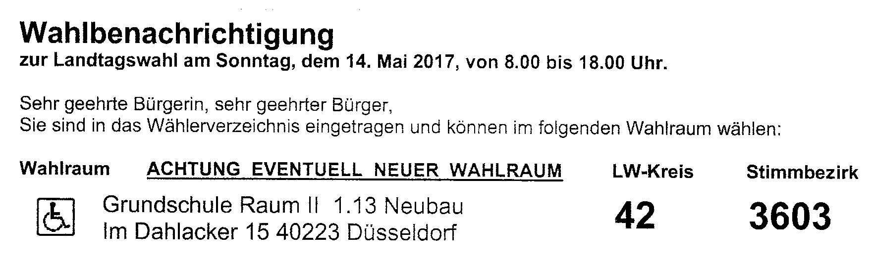 Landtagswahl in NRW - Ablauf