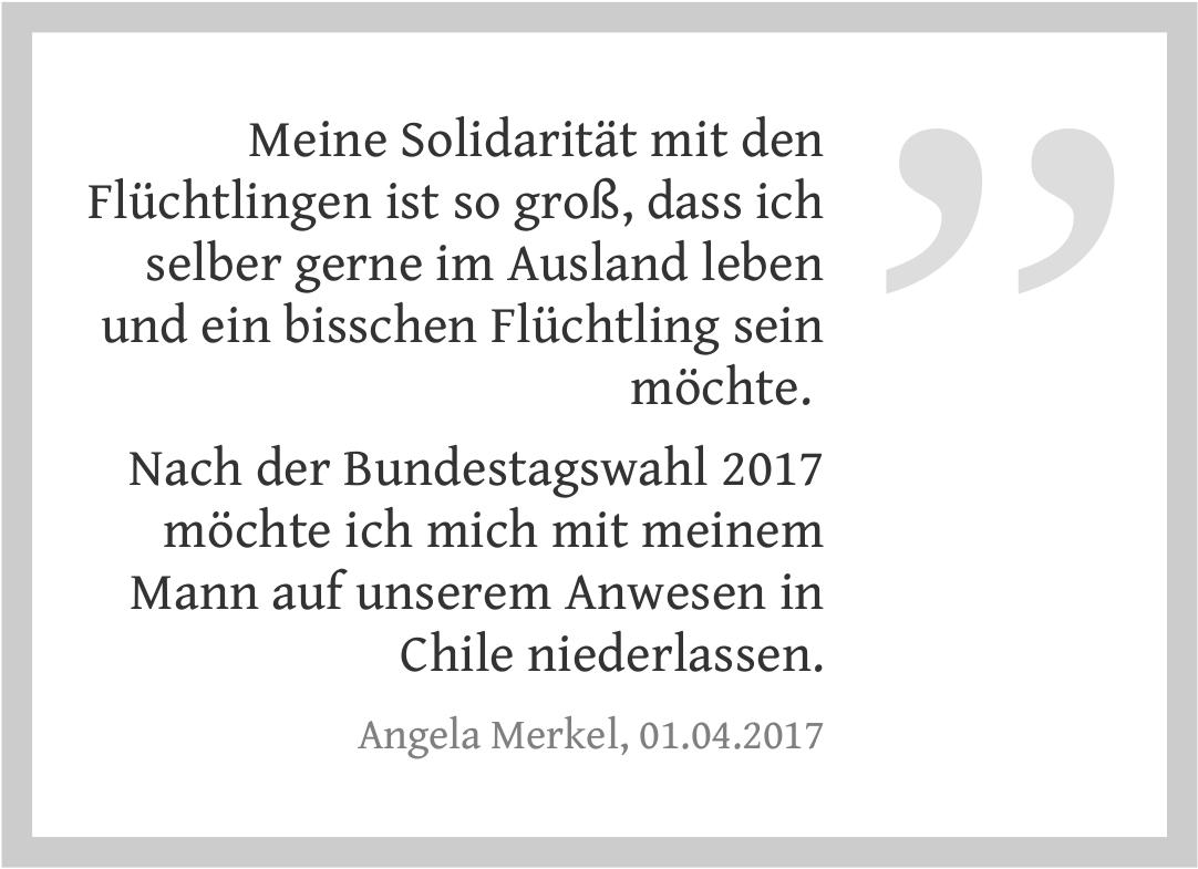 Angela Merkel zur Bundestagswahl
