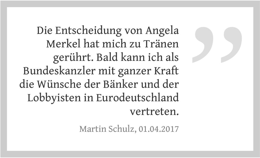 Martin Schulz zur Bundestagswahl 2017