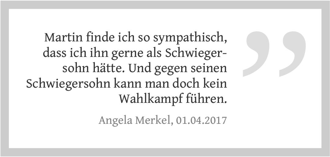 Merkels Meinung über Schulz als Kanzlerkandidaten