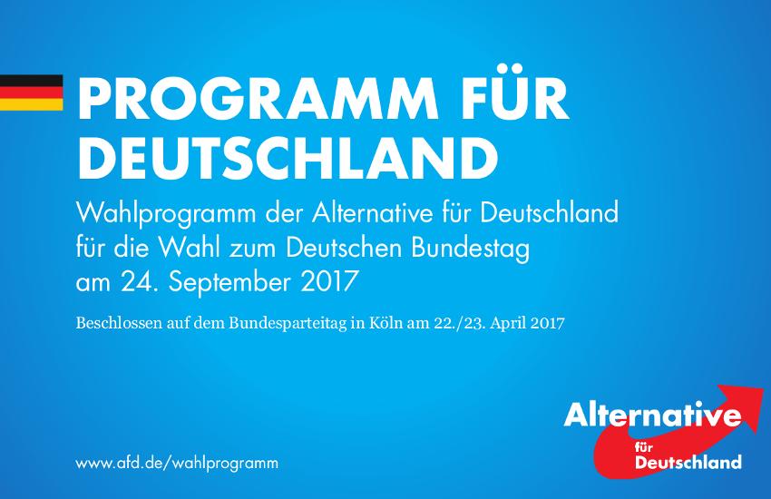 Programm der AfD für die Bundestagswahl