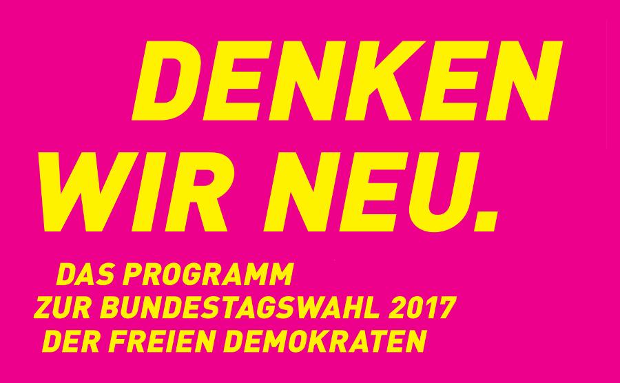 Programm der FDP für die Bundestagswahl 2017