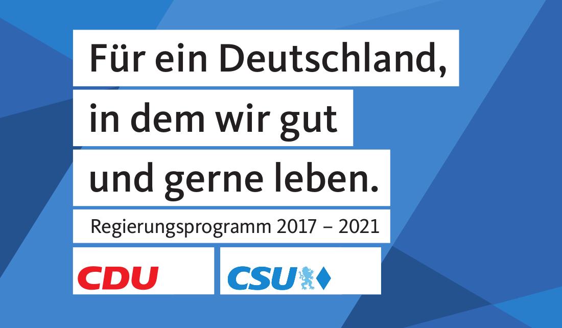 Programm der Union (CDU CSU) für die Bundestagswahl)
