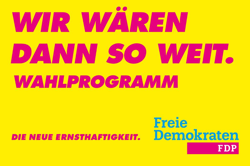 Landtagswahl in Niedersachsen - Programm der FDP