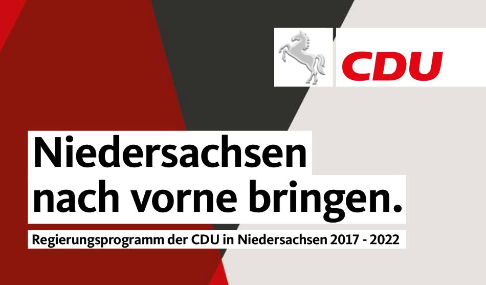 Programm der CDU Niedersachsen
