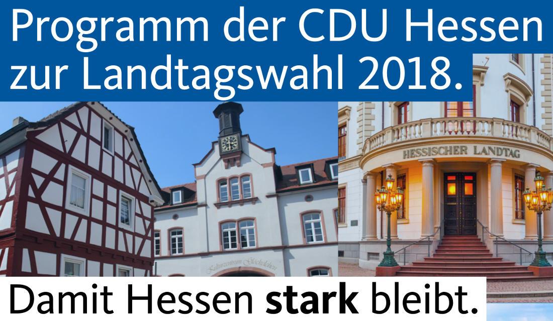 Programm der CDU Hessen für die Landtagswahl 2018