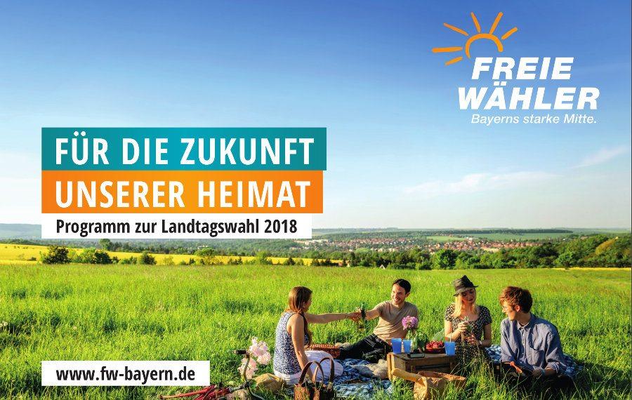 Programm der Freien Wähler (FW) zur Landtagswahl 2018 in Bayern