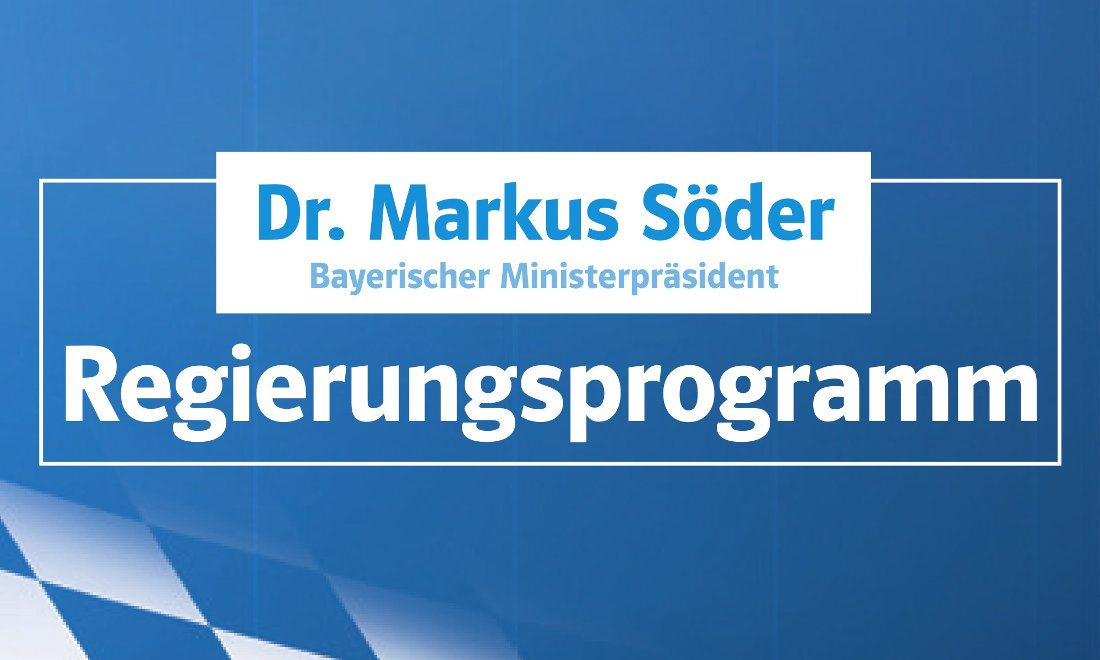 Wahlprogramm der CSU für die Landtagswahl 2018 in Bayern