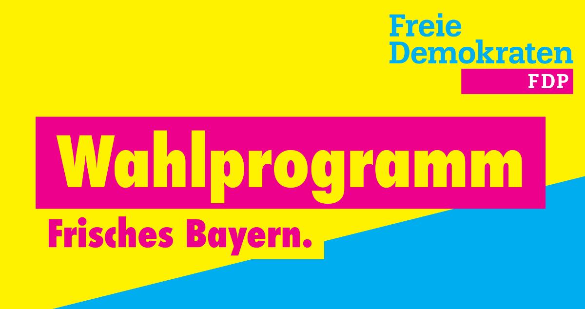 Wahlprogramm der FDP für die Bundestagswahl 2018 in Bayern