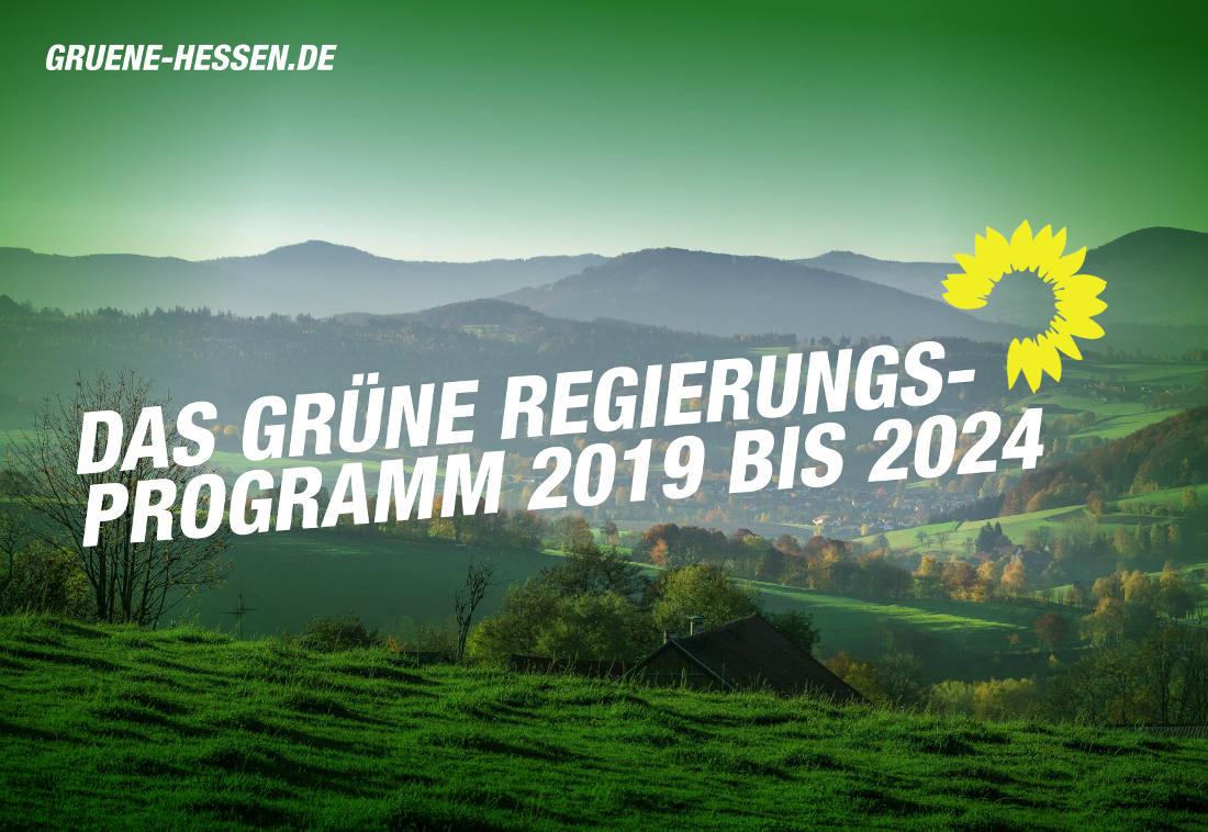 Wahlprogramm von Bündnis 90-Die Grünen für die Landtagswahl 2018 in Hessen