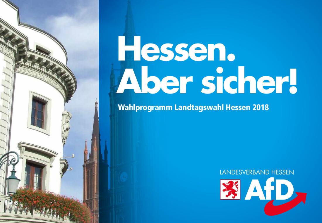Wahlprogramm der AfD Hessen für die Landtagswahl 2018