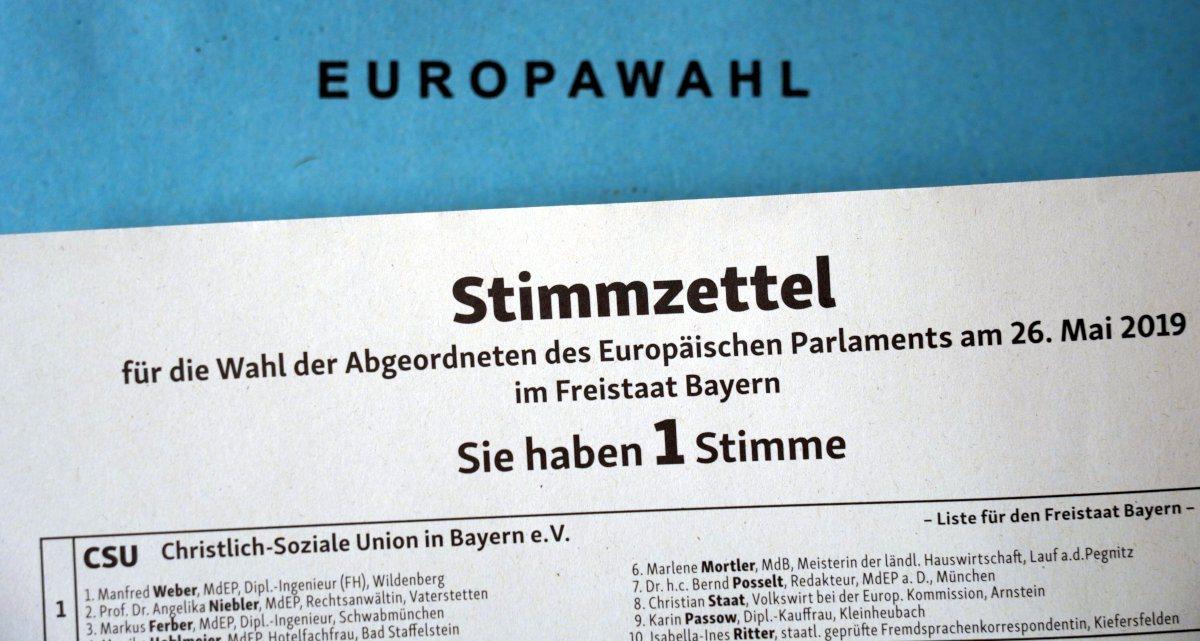 Europawahl - Stimmzettel
