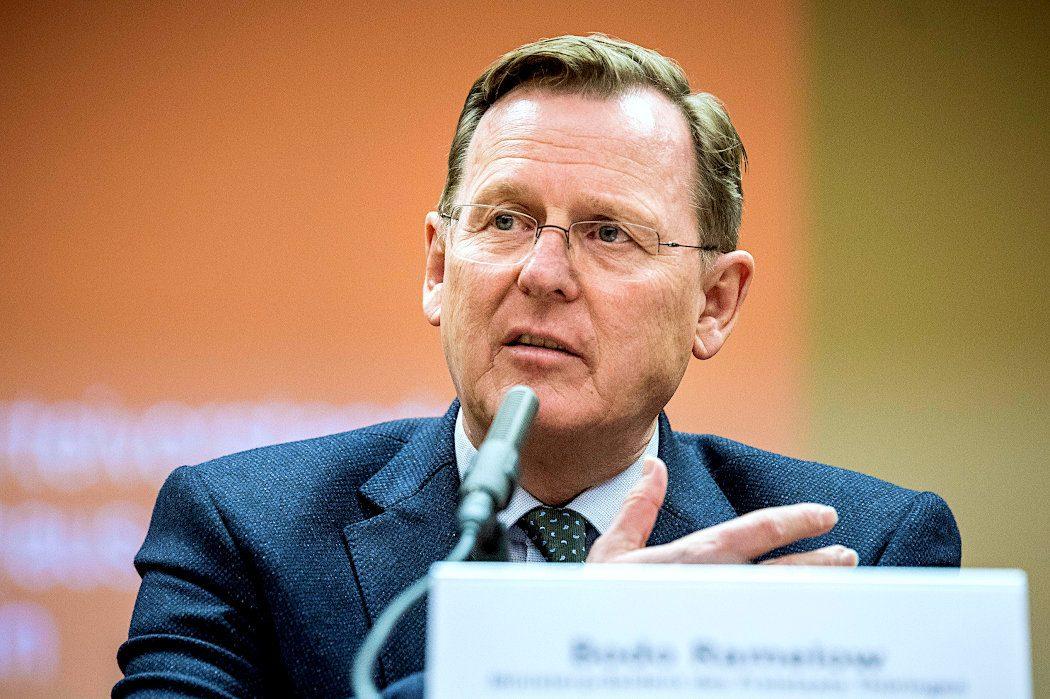 Bodo Ramelow, Ministerpräsident Thüringens und Spitzenkandidat der Linken bei der Lantagswahl