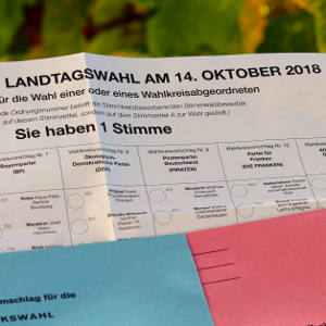Wahlunterlagen für die Landtagswahl in Bayern