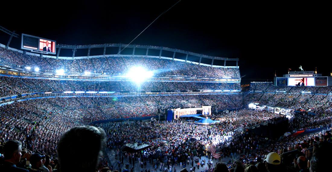 Nominierungsparteitag im Vorfeld der Präsidentschaftswahl in den USA